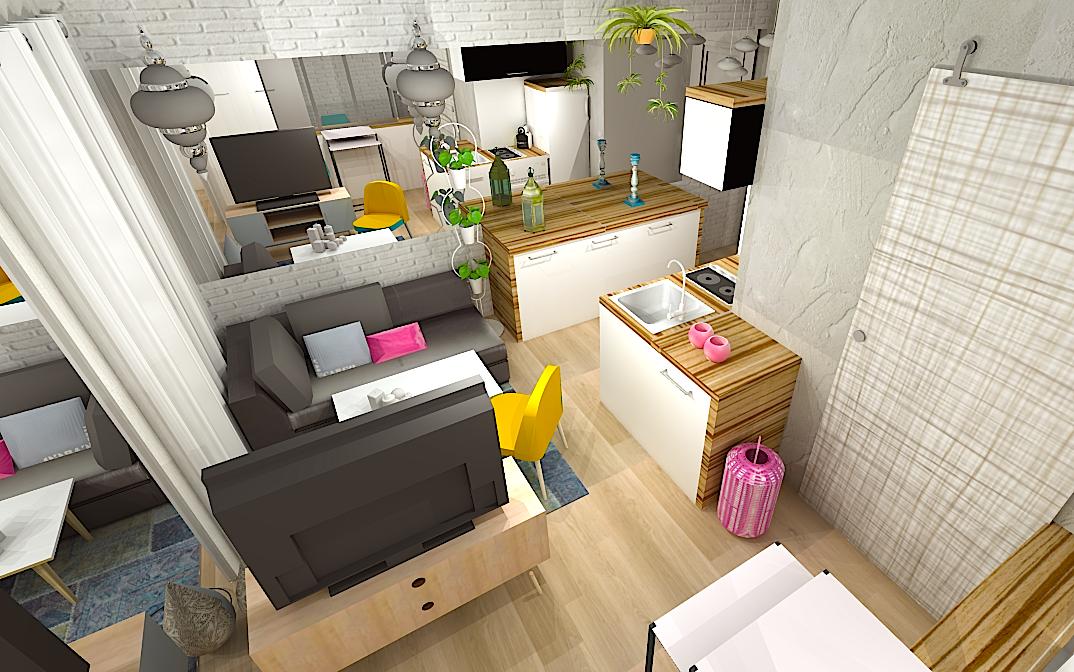 L'architecte d'intérieur décore un studio