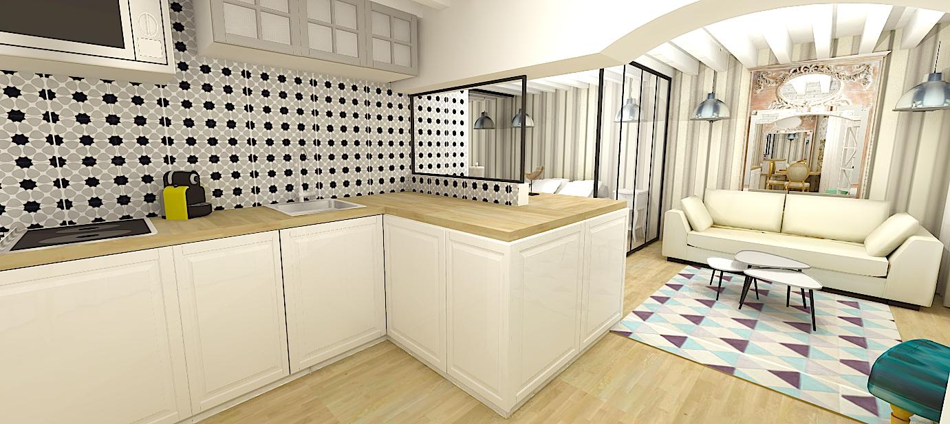 architecte dintrieur paris petite surface simple plan dune petite cuisine nos exemples suivre. Black Bedroom Furniture Sets. Home Design Ideas