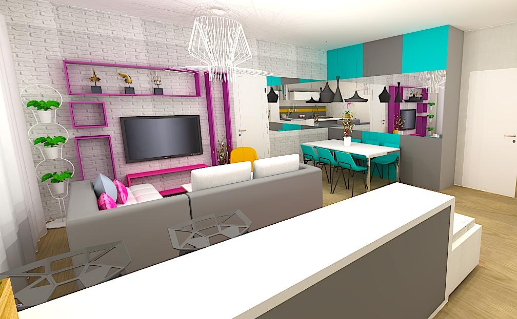 L'architecte d'intérieur décore un appartement