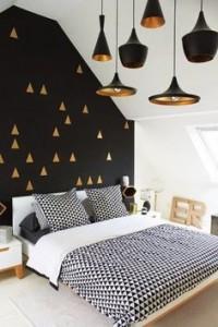 chambre noir et blanc or