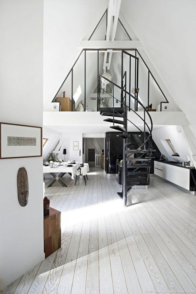La mezzanine dans un loft e interiorconcept for Interieur loft