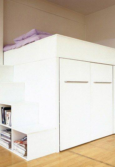 La mezzanine dans un loft e interiorconcept - Lit mezzanine avec dressing ...