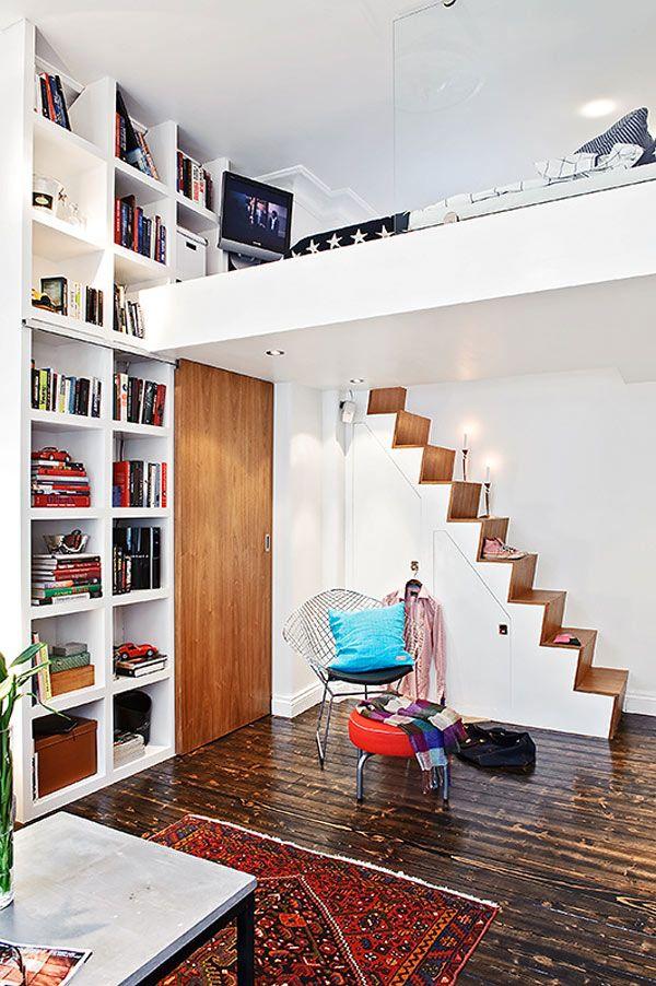 La mezzanine dans un loft e interiorconcept - Loft met mezzanine ...
