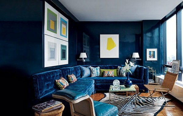 tendance d co 2016 le bleu lectrique e interiorconcept. Black Bedroom Furniture Sets. Home Design Ideas