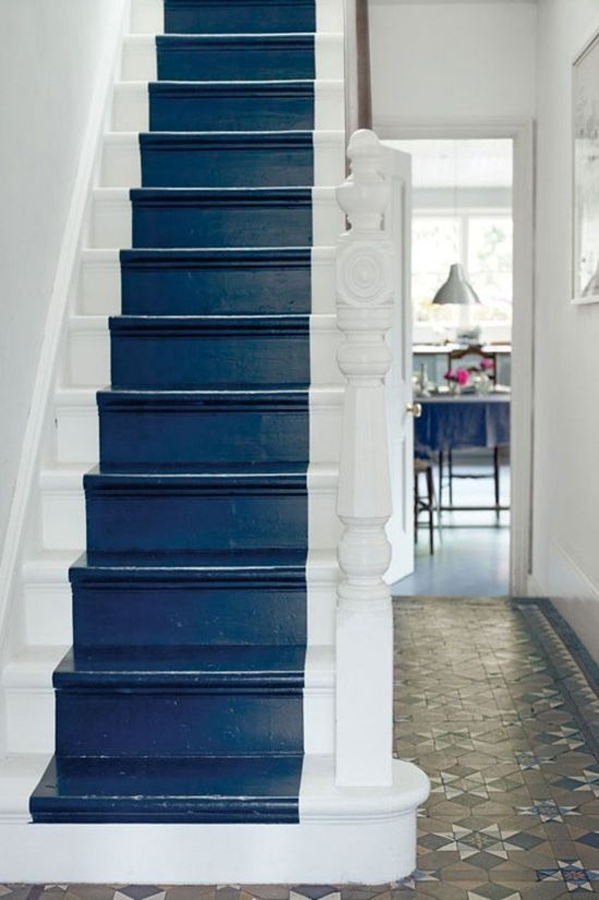 Diy archives e interiorconcept - Escalier peint en blanc ...