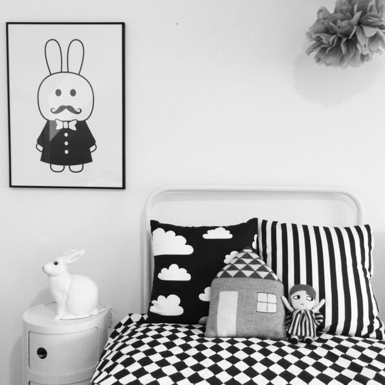 chambre enfant d co noir et blanc e interiorconcept. Black Bedroom Furniture Sets. Home Design Ideas