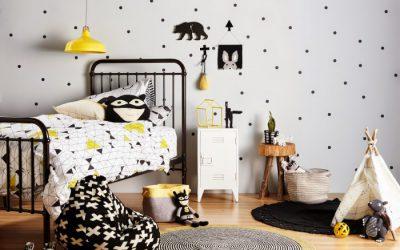La chambre enfant déco noir et blanc