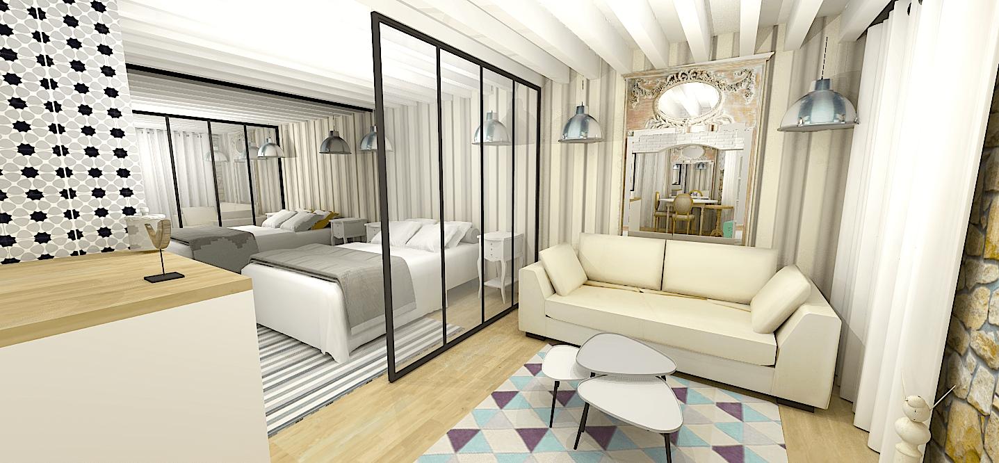 Architecte Interieur Paris Petite Surface avant / aprÈs: studio parisien - e-interiorconcept