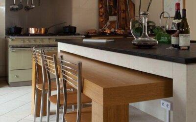 Idées du décorateur, la table dans la cuisine